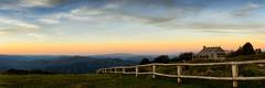 Craigs Hut (Damien Seidel) Tags: sunset panorama landscape victoria panoramic shack movieset mtstirling mtbuller carlzeiss craigshut mthotham alpinehut mtcobbler kingvalley mtbuffalo nikond800e