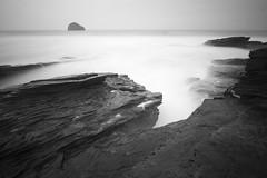 Haze of waves (- Ed Hollis -) Tags: sea white black monochrome strand canon mono coast long exposure cornwall 10 wideangle filter nd ultra trebarwith 1022mm density neutral 400d