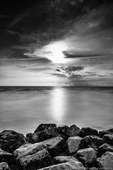 Silent [Explored 26th Dec 2012] (MOG'S) Tags: sunset blackandwhite bw seascape beach seaside lee malaysia seacoast selangor sekinchan sekincan leefilter nd500 lightcraftworkshop