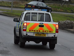Essex Police - Ford Ranger Incident Response Vehicle (EU08 LCX) (Chris' 999 Pics) Tags: old uk blue light england woman man speed lights bill pc nikon bars order cops united nick blues kingdom cop copper and service law enforcement breakers emergency 112 siren coppers arrest policeman 999 constable 991 twos strobes policing lightbars d3200 rotators leds