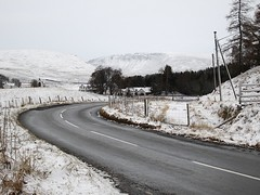 Amulree (Andy Worthington) Tags: trees winter snow scotland highlands frost perthshire churches fences hills fields hotels roads amulree a822
