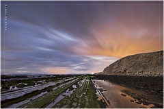 Flysch,  Las huellas de la vida. (Francisco J. Prez.) Tags: naturaleza nature night mar spain paisaje panoramica nocturnas cdiz playas tarifa sigma1020mm campodegibraltar playasdetarifa pentaxk5 franciscojprez