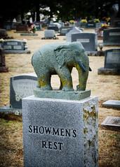 Showmen's Rest - Mount Olivet Cemetery (photographyguy) Tags: elephant oklahoma cemetery grave circus headstone tombstone gravestone hugo mountolivetcemetery showmansrest