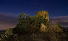 Torre de Cas (Fernando Rico) Tags: longexposure nightphotography night clouds canon stars landscape spain long exposure tokina explore estrellas fernando nocturnas ermita lleida longexposures montsec fotografianocturna canon7d tokina1116