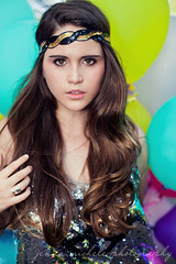 Downtown Orlando Balloon Fashion Shoot (Jenna Michele Photography) Tags: fashion sparkles balloons orlando jump downtown florida longhair peacesign oaktree cobblestreet