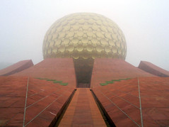 wmatrimponente_2118 (Manohar_Auroville) Tags: urn sunrise newyear celebrations amphitheater luigi banyan auroville matrimandir fedele manohar 2013