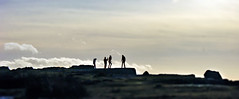 On the edge. (sidibousaid60) Tags: uk sky people clouds derbyshire peakdistrict silhouettes figures curbaredge