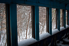 DSC_8091 Forgotten Train-29 (ChrisAnderson-Boston) Tags: snow abandoned train nikon rust decay neglected newhampshire whitemountains trains deserted d5000 conwayrailway