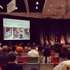 Trends in bathroom design panel talking about softer geometry trends. (Yahoo! Homes) Tags: dod2012 dwellondesign2012