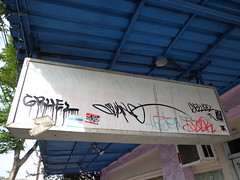 Honolulu Graffiti, 2013 (HiZmiester) Tags: street streetart art graffiti hawaii oahu artsy vandalism honolulu tonk slang gruel jesr whomu