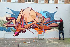 Vibes (STEAM156) Tags: uk streetart london art graffiti travels photos unitedkingdom artists walls vibes rt stockwell steam156 wwwlondongraffititourscom