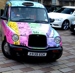 "A ""Sciency"" Taxi Cab in Oxford (Shutter87) Tags: uk england cab taxi science system chemistry elements oxford physics periodic mendeleev"