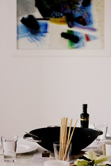 lunch @ O47m (TihanaAnaRe) Tags: white abstract black water modern painting lunch design living olive croatia zagreb meal oil wok