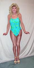 (Leihia1) Tags: red sexy stockings hair tv high dress cross girly cd femme makeup hose tgirl nails tranny blonde transvestite heels lip stick trans dresser swimsuit pantyhose gurl boi effeminate wedges tucking tgurl