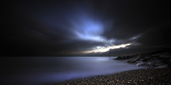 hythe (richard carter...) Tags: longexposure sunset beach canon kent etc hythe dramticsky milkysea eos5mk2