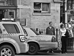 Hailing a cab during rush hour can be frustrating (minnepixel) Tags: street nyc newyorkcity summer people blackandwhite bw newyork canon blackwhite candid cab taxi streetphotography upperwestside uws 2012 g11 yellowtaxi lifeinnyc lifeinnewyorkcity canonpowershotg11