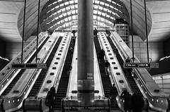 Canary Wharf Station - London (Craig Pitchers) Tags: london station underground subway nikon europe escalator tube canarywharf unitedkingdon 2470mm canarywharfstation nikon2470mmf28 d7000 nikond7000