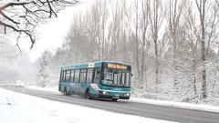 Midwinter (ƒliçkrwåy) Tags: road winter snow bus surrey wright cadet daf arriva sb120 3937 gk52yvb