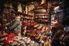 Peek-a-boo! (Wameq R) Tags: christmas storm cold wet rain store belgium brugge indoor rainy bruges bleacher hdr photomatix tonemapping trinckets blinkagain hdrefex