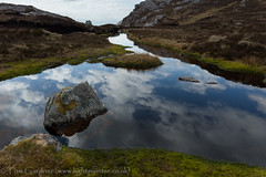 Pool and rocks on Arkle, Sutherland (tomgardner) Tags: uk greatbritain mountain mountains water pool rock scotland highlands europe european unitedkingdom britain hill scottish peak hills peat highland summit environment british geology peaks sutherland bog summits