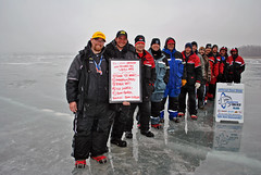 Big-Creek Hardwater Open Winners 2013 (Dan Small Outdoors) Tags: tournament icefishing bigcreek hardwateropen dansmall jeffkelm outdoorsradio aaronberg recycledfish