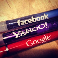 Facebook, Yahoo and Google pens