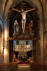 Kirche Ste-Croix in Kaysersberg (imanh) Tags: houtsnijwerk altaar beeld kerk interieur iman heijboer imanh elzas church interior woodcarving altar