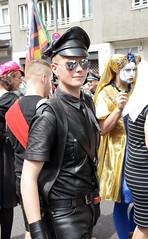 CSD Berlin, July 23, 2016 (ulo2007) Tags: leather leatherboy leatherman fetishberlinpridegaypridecsdchristopherstreetdayprideparadegaylesbianqueer gayleather pride gaypride fetish leathercap leathershirt
