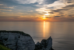 That's the way it should be (earth) ... calm, quiet andpeaceful (alain01789) Tags: longexposure light sunset sea sun mer seascape clouds landscape soleil lumiere normandie nuages paysage crepuscule channel manche etretat poselongue