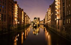 Hamburg Nights (TeeJay_S) Tags: germany deutschland hamburg night city canal europe nighttime explore travel urban adventure beautiful canon discover