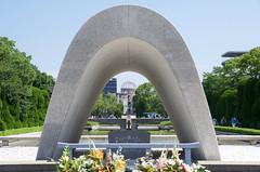 Memorial Cenotaph (ELCAN KE-7A) Tags: park japan memorial peace pentax hiroshima  cenotaph   2016      k5s