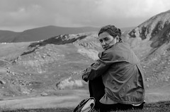 Sabina on Transalpina (Alin Stefan) Tags: judeulgorj romania nikon d7000 bw transalpina
