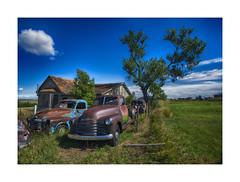 """I found a parking spot!""-Abandoned South Dakota FB page (j_piepkorn65) Tags: piepkorn okaton southdakota abandonedsouthdakota ruralexploration ruraldecay chevrolet autosfordpickupoldrustydecayvintage rusty ghosttown"