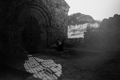Freed (nazva) Tags: portrait ruins portugal solitude isolation light conceptual ghost phantasm long exposure eerie mysterious dark