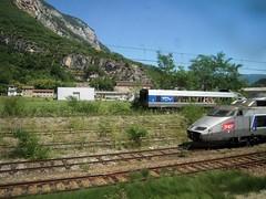 TGV SUD EST (marsupilami92) Tags: france frankreich rhnealpes ain 01 ferrailleur tgvsudest voieferre culoz dmolition sme montagne sncf