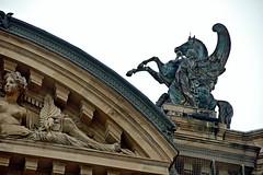 Taming Pegasus (EmperorNorton47) Tags: operagarnier paris iledefrance france photo digital autumn fall theater operahouse statue sculpture bronze pegasus wingedhorse