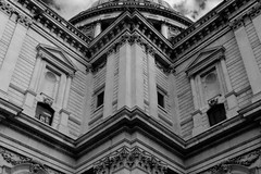 The Face of London (K3EPhoto) Tags: travel london wren st pauls puls line perspective black white monochrome ludgate hill baroque english england town city life tourist tourism monument icon iconic image photo photographer nikon mansart stone architecture arch building skyline history historic londoner east cornice detail mason masonry masoner dome k3ephoto linear landscape look high townie blackandwhite bw amateur cathedral church apostle bishop sir blitz design temple roof wall craft craftsman sightseers sightseer britain british great