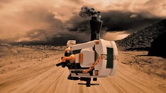Steampunk Rey's speeder - cruising in the desert (adde51) Tags: adde51 lego moc reys speeder desert steampunk steamwars foitsop