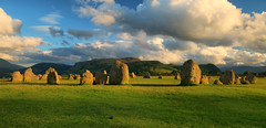 Castlerigg Golden hour (Andy Watson1) Tags: castlerigg stone circle golden hour keswick light shadow lake district national park cumbria england english uk united kingdom great britain british summer july landscape view scenery scenic countryside heritage travel trip canon 70d sigma grass clouds sky mountains blue fell fells evening