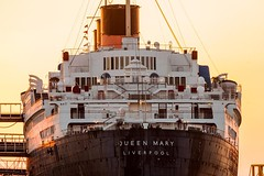 The retired ocean liner RMS Queen Mary (@KevinCase) Tags: california boat travel oceanliner nautical rmsqueenmary queenmary stern ship harbor longbeach