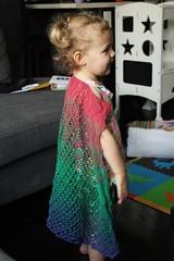 Zoe, 2 years 3 weeks old 1 (peridragon) Tags: knitting ravelry cheerfullybroken gradient