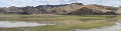 On the way to Tso MoririLake (Ravikanth K) Tags: 500px panorama ultrawide leh ladakh mountains nature outdoor jammuandkashmir clouds hills green water vast