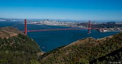 Golden Gate & San Francisco from the Marin Headlands HDR 2016 Steven Karp (kartofish) Tags: hdr goldengatebridge marinheadlands sanfrancisco fujifilm xt1 citiscape landscape ocean pacificocean bay bridge cityscape