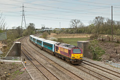 67022 82306 1V91 0533 Holyhead - Cardiff at Duffryn Newport  19.04.2016 (2) (The Cwmbran Creature.) Tags: british rail class railway train trains 67 wag wales assembly government gerald atw arriva premier service