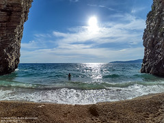 Hawaii (Boris Mrdja) Tags: sea seascape senic sky seaside nature more montenegro st nikola hawaii sveti budva ostrvo plaza beach blue island fisheye yi action cam swimming swim swimer diving cove bay