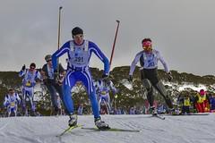 Kangaroo Hoppet (phunnyfotos) Tags: phunnyfotos australia victoria vic fallscreek bogonghighplains winter snow ski skiing skier skiers race xc crosscountry kangaroohoppet worldloppet 2016 start nikon d750 nikond750