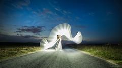 Kim sur mon chemin (tOntOnfred LP) Tags: ericpare lightpainting lightpaintingphotography blue hour heure bleue bluehour lightart france