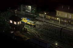 The Train Station at night - the switching tower (Maciej Drwiga) Tags: lego train station