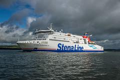 Stenna Superfast 7 approaches Belfast Harbour.... (A A A A Dafydd Penguin) Tags: stenna stennaline line channel superfast ferry harbour pot dock harbor belfast northern ireland nikon d600 nikkor 35mm af f2d