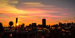 Richmond (zachclarke) Tags: richmond rva virginia va 2016 sunset orange pink yellow skyline city horizon timestack zachclarke2 zachclarke nikon nikond5100 d5100 timelapse sunburst burst colorful color night longexposure tripod